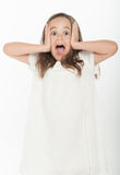 Shouting little girl Royalty Free Stock Photography