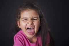 Shouting little girl Royalty Free Stock Image
