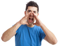 Shouting loud Stock Images