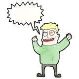 shouting mad man cartoon Stock Image