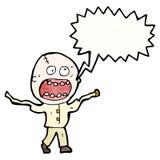 shouting mad man cartoon Stock Photos