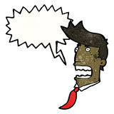 Shouting man cartoon Stock Images