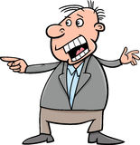 Shouting man cartoon illustration Royalty Free Stock Image