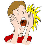 Shouting Man Cartoon Royalty Free Stock Photos