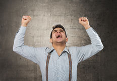 Shouting man Royalty Free Stock Image
