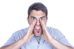 Homem Shouting foto de stock royalty free