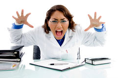 Shouting medical professional Stock Images