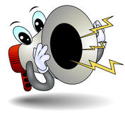 Shouting Megaphone Royalty Free Stock Photography