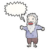 Shouting old man cartoon Royalty Free Stock Photo