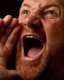 Shouting para fora ruidosamente Imagens de Stock Royalty Free