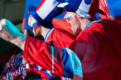 Shouting people. Expression fans in the stadium Royalty Free Stock Images