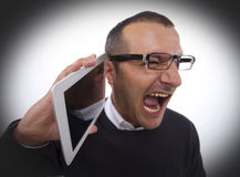 Shouting in the Phone Stock Photos