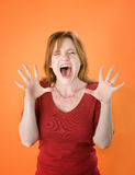 Shouting Red Head stock image