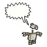 Shouting robot cartoon Stock Photography