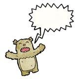 Shouting teddy bear cartoon Stock Images