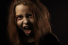 Shouting teen girl Stock Images