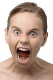 Shouting teenager Stock Image
