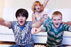 Shouting teenagers Royalty Free Stock Image