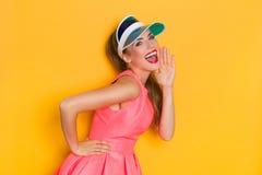 Shouting Vibrant Girl Royalty Free Stock Photography
