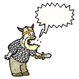 Shouting viking cartoon Royalty Free Stock Photo