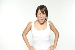Shouting woman Stock Photography