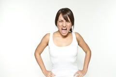 Shouting woman Stock Photography