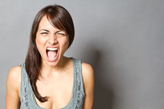 Shouting woman Stock Photos