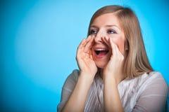 Shouting woman Stock Photo