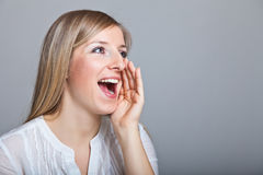 Shouting woman Stock Image