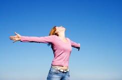 Shouting woman Stock Image