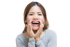 Shouting woman Royalty Free Stock Images