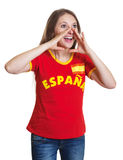 Shouting woman from Spain Royalty Free Stock Image