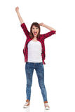 Shouting Young Woman Isolated Stock Images