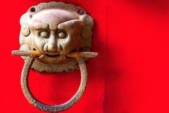 Shoutou knock ring. Knock and ring in China dahongmen Shoutou Royal marker stock images