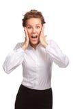 She shouts Stock Photo