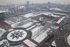 Shouyi square snow Stock Photos