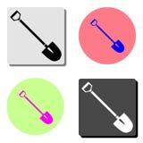 shovel Ícone liso do vetor ilustração stock