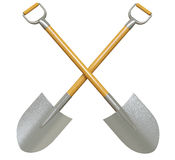 Shovel. On a white surface Royalty Free Stock Photo