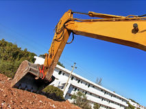 Shovel. Of a bulldozer digging in a construction site Royalty Free Stock Photo