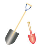 shovel ilustração royalty free