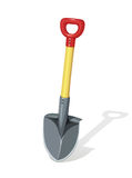 Shovel. Agriculture and building tools for work. Instrument diging. Horticulture spade inventory dig. Gardening equipment. Isolated white background. Vector Royalty Free Stock Image