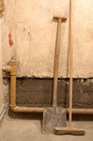 Shovel and besom Royalty Free Stock Photos