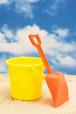 Shovel and Bucket Royalty Free Stock Images