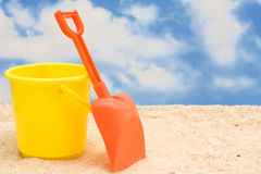 Shovel and Bucket Royalty Free Stock Image
