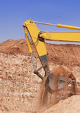 Shovel of a Bulldozer Royalty Free Stock Photography