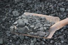 Shovel and coal Royalty Free Stock Image