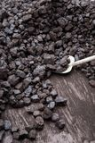 Shovel and coal Royalty Free Stock Images