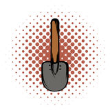 Shovel comics icon. On white background. Single instrument Stock Photo