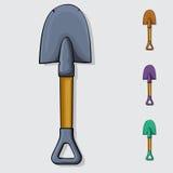 shovel Desenhos animados desenhados à mão ilustração do vetor