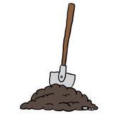 Shovel in dirt Stock Images